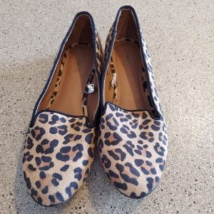 Mossimo leopard print slip on loafer shoe point